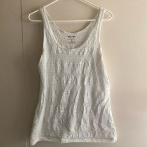 White Lace Mossimo Supply Co. Tank Top Tee Shirt
